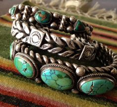 Nice old Navajo.  Substantial silver cuff looks good with it!