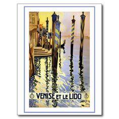 Venise et Le Lido Vintage Carte Postale   Zazzle