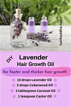 Lavender Oil for Thicker Hair. Also remedies Dandruff and Scalp Tension. - hair buddha
