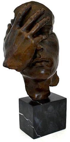 El homenaje de la memoria al gran Dalì bronce escultura /