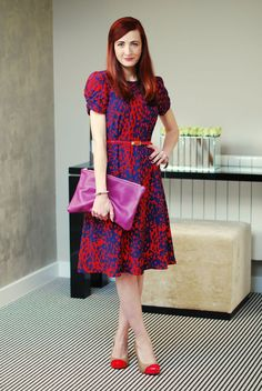Not Dressed As Lamb - Over 40 Fashion Blog: A Bold Dress & DIY Red Carpet Heels