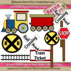 Train 1 Clipart Digital Download by MaddieZee on Etsy, $1.50