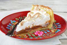 Tarta de dulce de leche y merengue