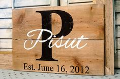 Family Established Pallet Sign  Family Last Name Sign