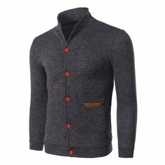 Mens Fashion Solid Slim Fit Thin Knit Cardigan Cheap - NewChic Mobile