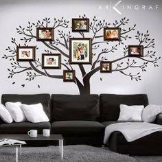 Family tree for wall decoration nice idea Interior Design Living Room, Living Room Decor, Interior Decorating, Bedroom Decor, Wall Decor, Cool House Designs, Wall Design, Diy Home Decor, Decoration