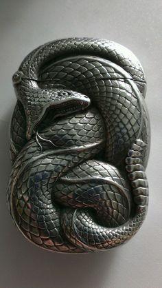 Antique Sterling Silver Figural Snake Match Safe Vesta Case Box William B Kerr   eBay