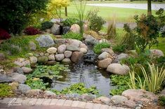 Aquascape Water Gardens and Koi Ponds pond offer a relaxing and serene setting for any backyard or patio. Visit us today and see it how easy it is to add a water garden to your landscape!  #WaterGarden