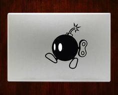 Mario Bomb m330 Decal Sticker Vinyl For Macbook Pro by DecalOnTop