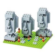 Jeu de construction Nanoblock Monuments / Statues Moai de l'île de Pâques