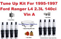Tune Up Kit For 95-97 Ford Ranger L4  Spark Plug Wire Set, Oil Air Fuel Filter #AftermarketProducts