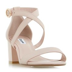 fae782a2a DUNE LADIES MONTIE - Cross Strap Block Heel Sandal - blush
