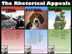 Emily Grover's 5060 Blog: Rhetorical Appeals Poster  Where was this poster this year when I was teaching Rhetoric?