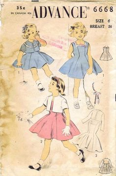 1950's Advance Vintage Sewing Pattern