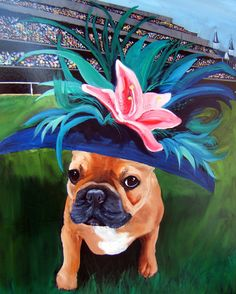 French Bulldog Art Print of an original oil by dogwagart on Etsy