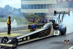 Tony Schumacher & Team at Heartland Park Topeka for the Kansas National's in the US. Army T/F Dragster