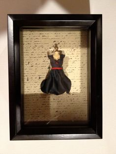 Polymer Clay Dress Sculpture Wall Art $35 on etsy. She can even customize from a picture of your special dress! Would be great to do with a wedding dress.