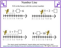 math worksheet : 1000 images about numberlines on pinterest  number lines open  : Number Line Worksheets Kindergarten