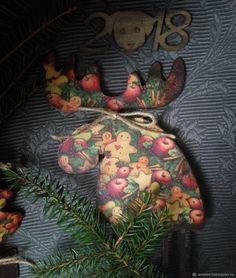 """Купить Лось новогодний """"Яблоки с корицей"""" в интернет магазине на Ярмарке Мастеров"""
