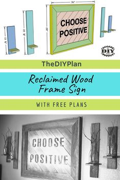 Genius DIY Home Decor Storage and Organization Ideas – Tight Old Fence Wood, Old Fence Boards, Old Fences, Barn Wood, Diy Furniture Plans, Diy Furniture Projects, Diy Home Decor Projects, Outdoor Projects, Wood Picture Frames