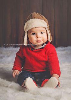 6 Month Old Baby Boy Studio Inspiration | Shawna Shenette Photography | Millbury, MA Photographer