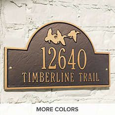 Address Plaque - Custom Address Signs - Mailboxes - Frontgate