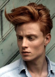 red hair-  men's hairstyles 2013