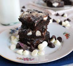 Gooey Triple Chocolate Cake Bars