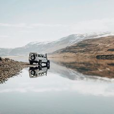 """upknorth: """" Go off-road and find a spot to drink a beer to. #getoutdoors #upknorth Friday outlook. Backcountry stillness in Iceland shot by @mikeseehagel (at Iceland) """""""