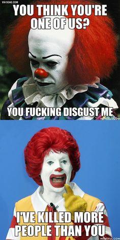 Es un hecho: Ronald McDonald se ha cargado más gente que el payaso de It.