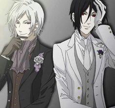 Sebastian In White Black Butler WallpaperBlack