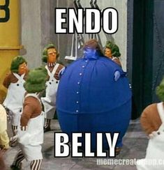 Endo Belly! We all know what it feels and looks like and sometimes all you can do is laugh! | Endo | Endowarriors | HealingInfertilityNaturally | Chronic illness | Funny