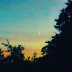 Ecco fra i colori del crepuscolo una sottile falce di #Luna quasi a sorridere alla notte che la segue. Vi auguriamo un buon sabato sera sotto le stelle! :-) #moon #night #sunset #notte #stelle #moon #moonlight http://ift.tt/2bNqAti - http://ift.tt/1HQJd81