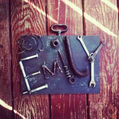 Custom Dorm Decor from Recycled Parts by TheRustRefinery on Etsy, $85.00
