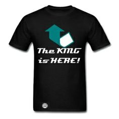 The King is here! Men's shirt only $30.00 on studio3designs.spreadshirt.com!