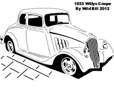 1933 Willys Coupe - Transportation - User Gallery - Scroll Saw Village