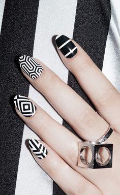 Black & White Nail Art
