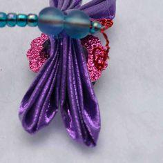 Kanzashi Dragonfly Fridge Magnets in Shimmering Purples M104. $12.00, via Etsy.