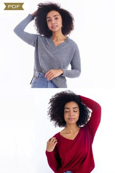 The Tabor V-Neck sewing pattern (pdf Pattern) – Sew House Seven