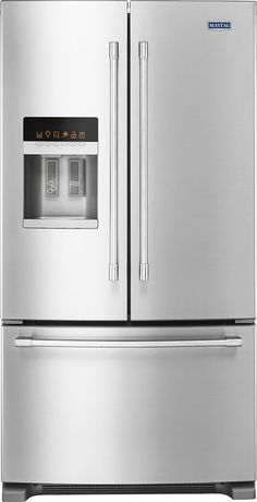 Maytag - 24.7 Cu. Ft. French Door Refrigerator - Stainless steel (Silver)