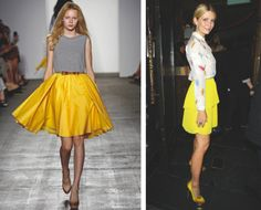 yellow skirts !