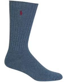 Polo Ralph Lauren Men's Crew Socks - Dark Denim 10-13