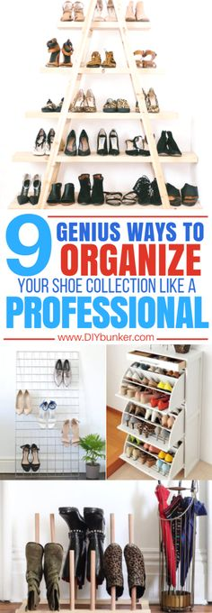 These 9 Shoe Organization Tips & Hacks Are AMAZING At Making Your Closet Look Professional And Clean! #organize #organization #shoes #shoehacks #hacks #homeorganization #homehacks #diy