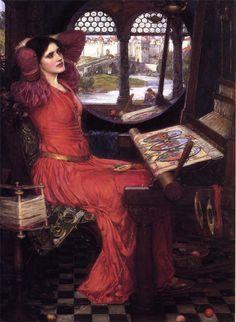 "John William Waterhouse - ""'I am half sick of shadows,' said the Lady of Shalott"""