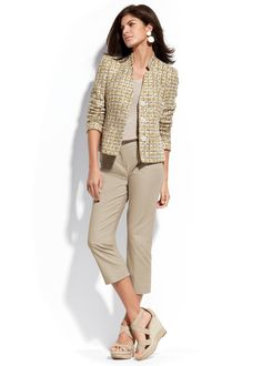 just can't beat neutrals--love the big earrings and the shoes, too