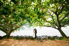 There is nothing better than a #destinationwedding in St. Regis Princeville in Kauai, HI in September.  Photos by Clane Gessel Photography   #weddings #mrandmrs #brideandgroom