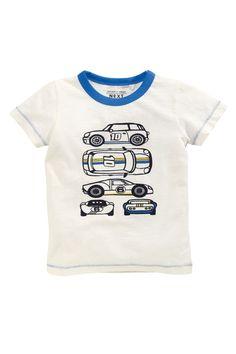 Buy Blue/Ecru Car T-Shirt Three Pack (3mths-6yrs) from the Next UK online shop