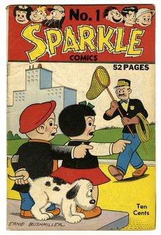 Sparkle Comics #1 (United Features Syndicate, 1948) Nancy, Captain and the Kids, and Ella Cinders.
