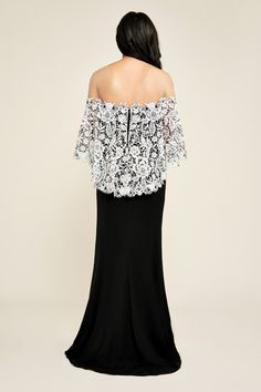 2059c955167f Tadashi Shoji - Tegan Gown Lace Ruffle, Cotton Lace, Ruffles, Mother Of  Groom