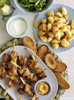 This rich, nutty Spanish sauce goes with most meats and also makes a great dip for crispy potatoes. Pork Skewers, New Zealand Food, Artisan Food, Crispy Potatoes, In Season Produce, Appetizer Dips, Recipe Using, Favorite Recipes, Homemade